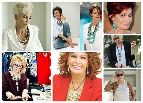 Стильные украшения для женщин за 50