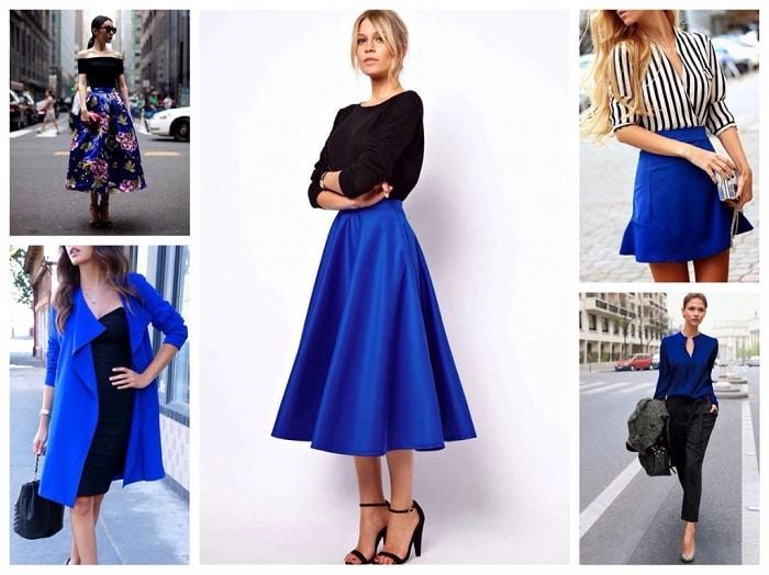 Синий цвет в гардеробе
