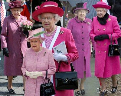 Королева в сиренево-розовой гамме