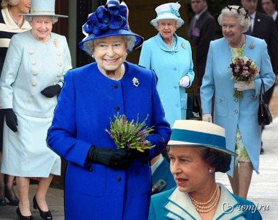 Елизавета II любит синий и голубой