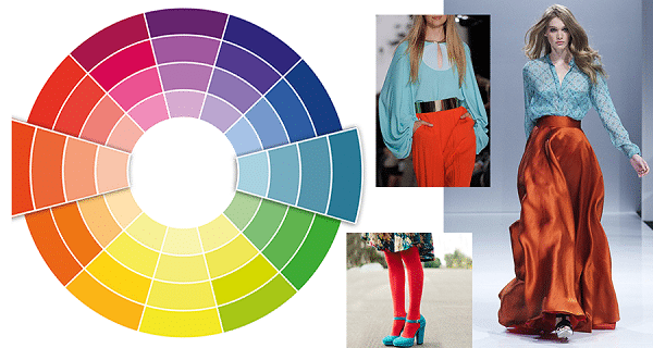Контрастное сочетание цветов в одежде